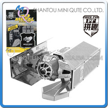 Mini Qute Piece Fun 3D Star wars Xwing ATAT Millennium Falcon Darth Vader Tie Fighter Metal Puzzle adult models educational toy(China (Mainland))