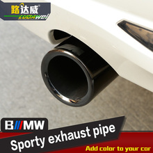 New Universal Chrome Stainless Steel Car Rear Round Exhaust Pipe Tail Muffler Tip Hot Sale Car Accessories ForBMW 3 F30 328i(China (Mainland))
