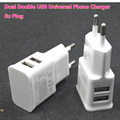 2 usb wall charger EU 5V 2A Charger For Samsung Galaxy S4 S5 for iphone 6