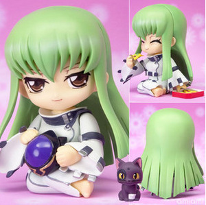 Hot 10cm Q Version japanese anime Code Geass C.C. Action Figure Toys lovely PVC Crafts Collection model for anime fans gifts(China (Mainland))