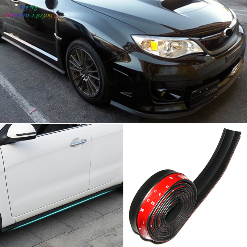 2.5m Car Front Lip Side Skirt Body Trim Front Bumper For Peugeot 206 207 301 307 308 407 408 508 2008 3008 4008(China (Mainland))