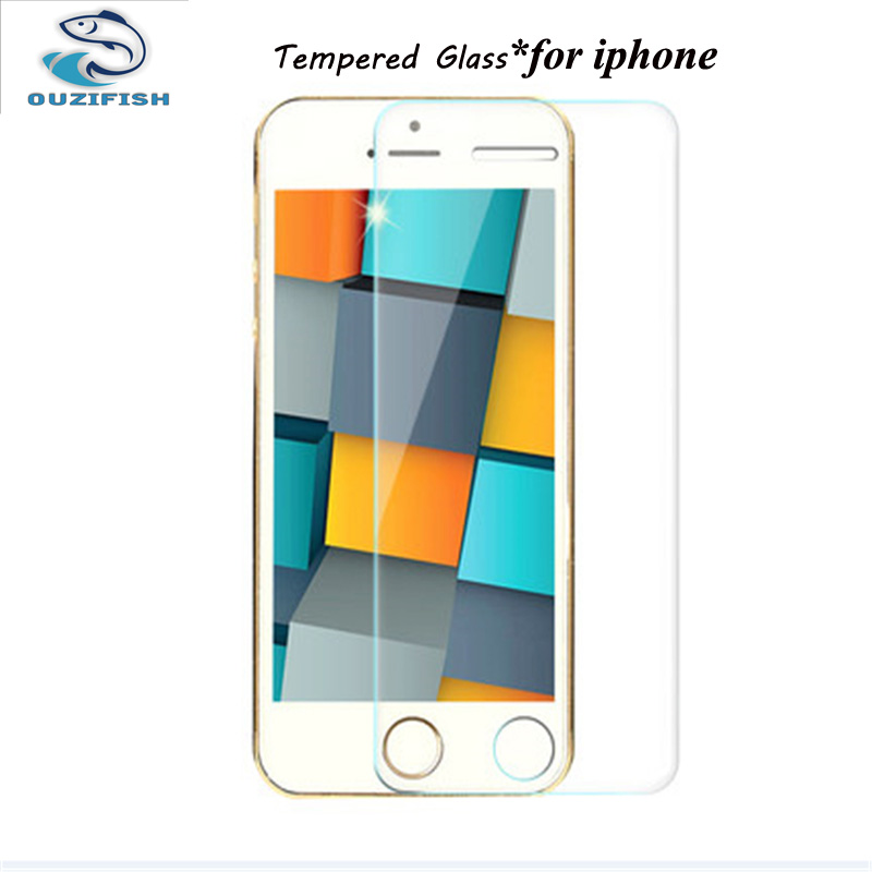 0.3mm Tempered Glass Film for iPhone 5 5s 9H Hard 2.5D Screen Protector for iPhone 6 6s 6 plus SE 4 4S 7 plus with Clean Tools(China (Mainland))