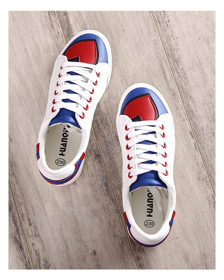 2016 new fashion women shoes platform solid breathable casual PU leather women casual shoes
