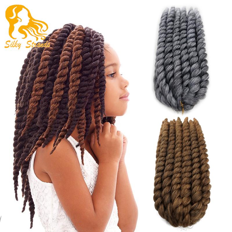 Havana Mambo Twist Crochet Braids Hair 12 75g/pack Synthetic crochet braids senegalese Twists  Braiding Hair Extension<br><br>Aliexpress
