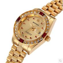 Swiss Reginald watch dial  small gold plated fashion waterproof stainless steel watch calendar lightweight Mens Watch