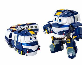 2016 South Korea dynamic train family trains robot dynamic train suit toy for children gift(China (Mainland))