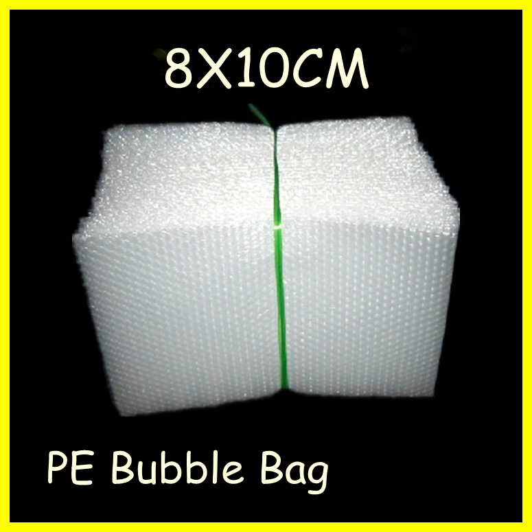 free shipping 100pcs/lot Bags,Pouches packaging,PE bubble bags,8X10cm,whole sale!(China (Mainland))