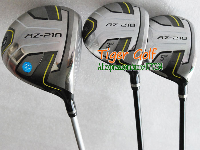 New Golf clubs AZ-218 Golf Wood set Driver+Fairway wood with Graphite Golf shaft and Wood headcove Free shipping(China (Mainland))
