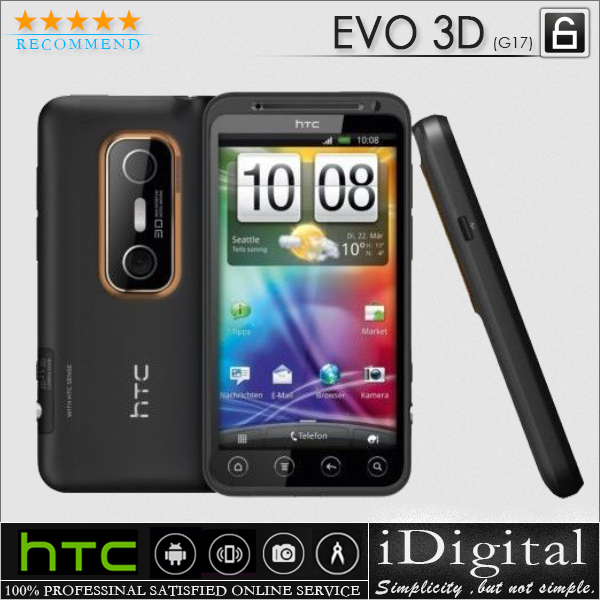 "Original HTC EVO 3D G17 Unlocked 4.3"" Screen Android OS 5MP 3G GPS WIFI Mobile Phone Factory Refurbished(China (Mainland))"