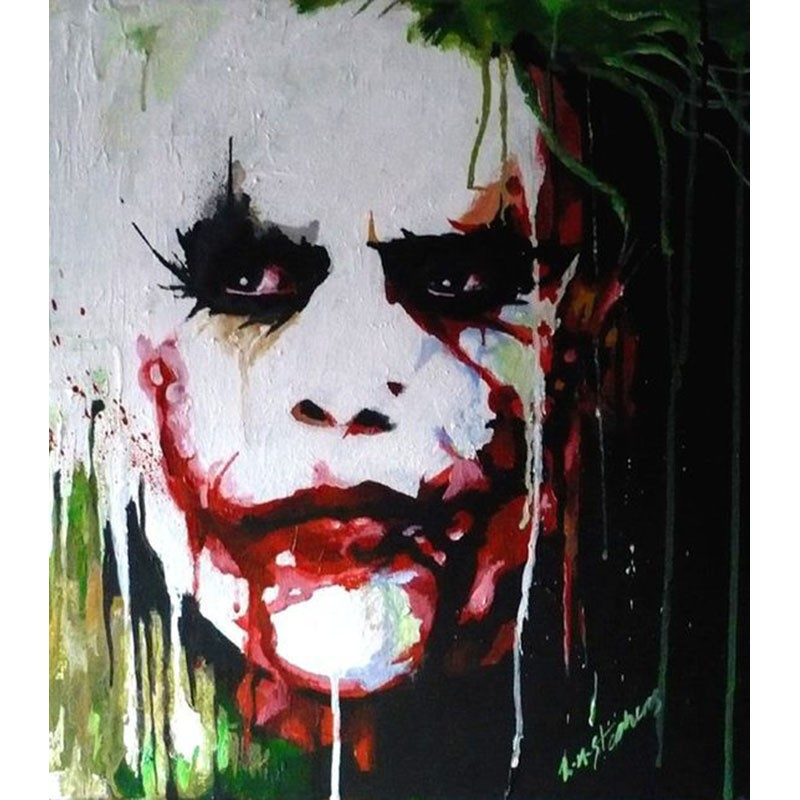 Buy High Quality Hand Painted Francoise Nielly Cool Face Palette Knife Abstract Oil Painting Canvas Wall Living Room Fine Artwork cheap
