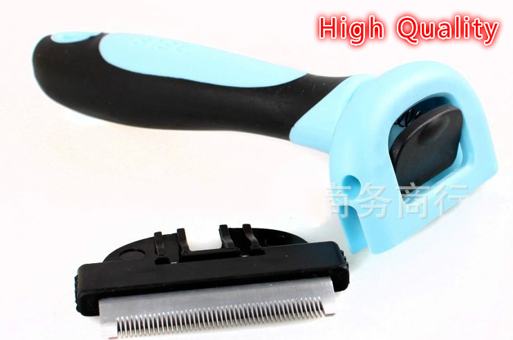 Pet Grooming Cat Dog Accessories Soft Plastic Handle Brush Hair Comb For Small Dogs Pet Supplies Free Shipping D0115(China (Mainland))