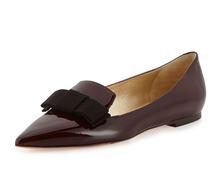 Высококачественные женщины лодка обувь квартиры лакированной кожи острым носом браун женщине нам размер 4 - 15(China (Mainland))