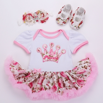 2016 new tutu dress ,princess dress, Newborn Baby Girl Clothes Shoes Headband set,baby girl clothes,children skirts #7C3010