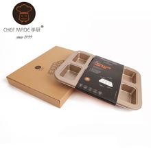 Free shipping High-end WK112013-1 Gold 8-cup  Financier /Long almond cake mold bread& egg tart mold Baking Tools(China (Mainland))