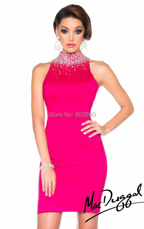 Dark pink cocktail dress
