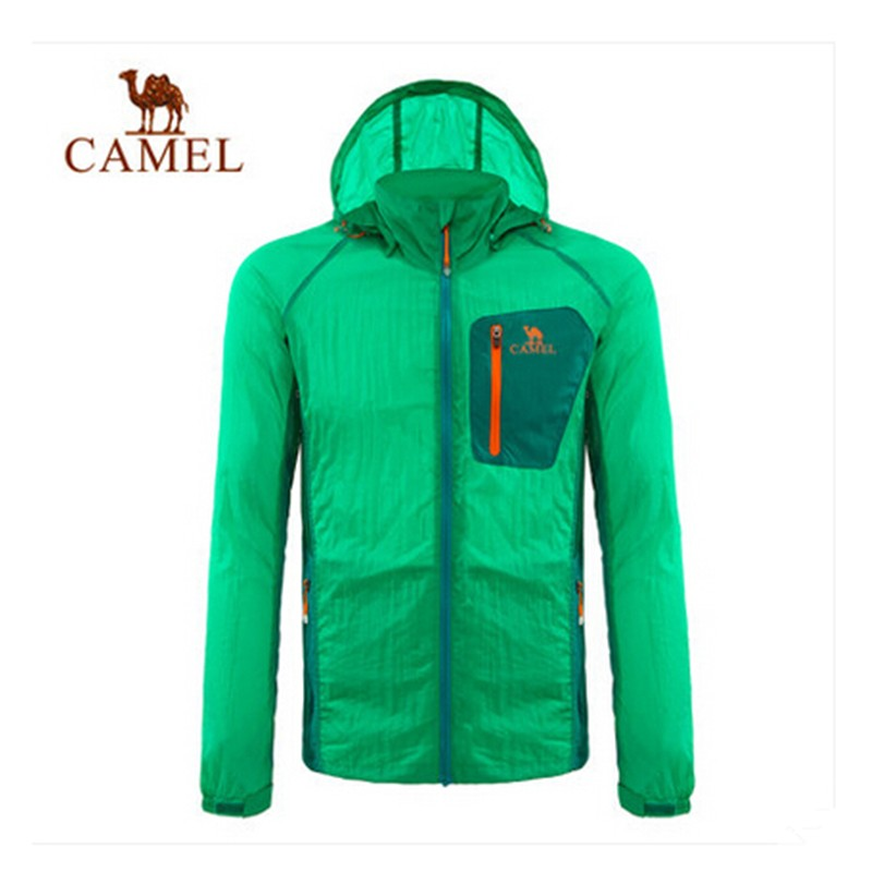 Camel 2015 Men Outdoor Skin Coat Breathable Hooded Ultra-light Windproof Thin Jacket Spring Summer High Quality Authentic S-XXL<br><br>Aliexpress