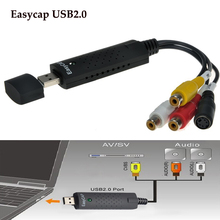 New USB 2.0 Easycap dc60 tv dvd vhs video capture card audio av easy cap adapter free shipping