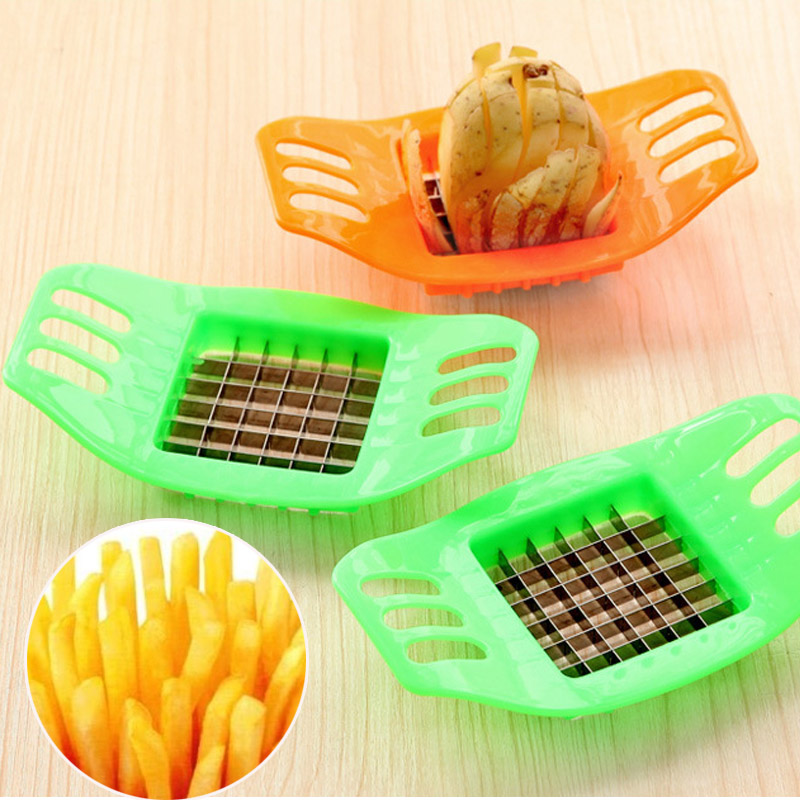 New ABS+Stainless Steel Potato Cutter Vegetable Slicer Chopper Chips Potato Fries Cutter Kitchen Cooking Tool Making Device CF24(China (Mainland))
