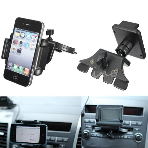 New Arrival Universal Car CD Slot Dash Mount Holder For Ihpone 6 Dock Mobile Phone Holder For Samsung S5/S4 For iPod GPS SP2(China (Mainland))