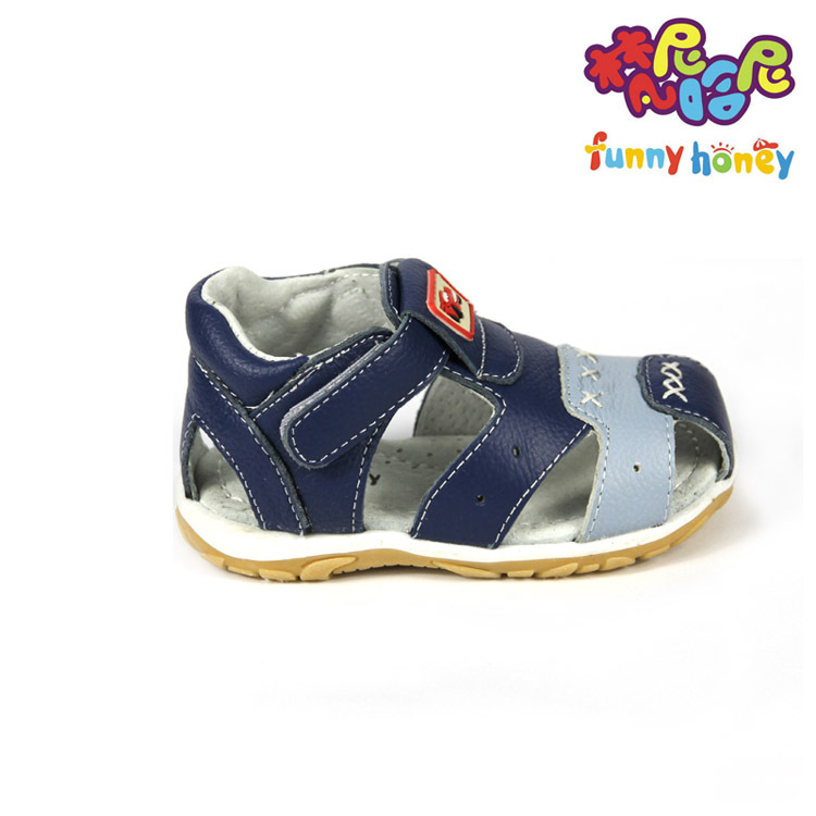 Promotion soft real leather male toddlers sandals high quality baby boy shoes sandals kids sandals beach closed toes 2-4years(China (Mainland))