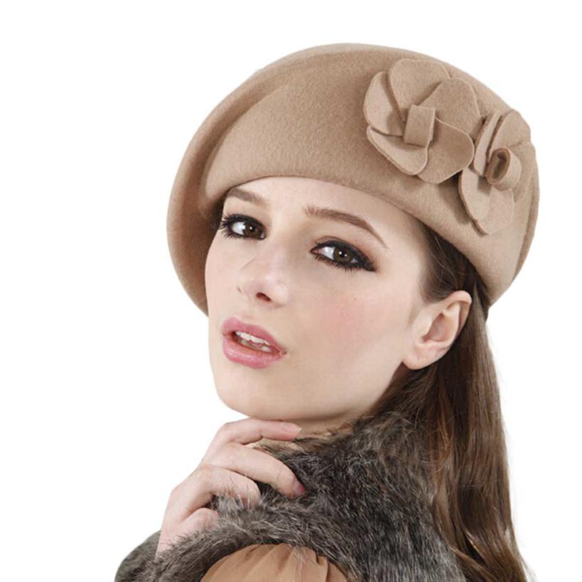 2014 Hot Women Felt French Beret Caps Felt Pillbox Hat Fashion Amazing(China (Mainland))