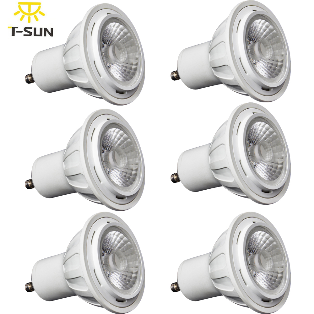 6 Packs UL Listed 6W GU10 LED Lamp GU10 LED spotlight 400 Lumen 50Watt Equivalent 3000K Warm White AC 100-277V(China (Mainland))