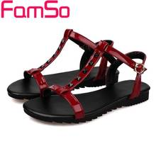 Free shipping  2016 New Women T-Strap Sandals  yellow Flip Flops Shoes Peep toe Slides Summer Black Women's Flats Sandals FS459