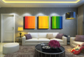 Rainbow 3 piece canvas wall art colorful decorative picture modern canvas oil painting for living room