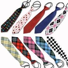 10 Styles School Boy Girl Kids Child Wedding Party Elastic Tie Necktie EQ5414