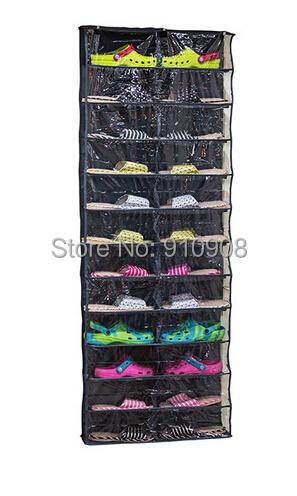 Amazing Shoe Rack Door Hanging Shoe Bag 26 Pairs Shoes Storage Hanger(China (Mainland))
