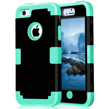 For iPhone 5C Shockproof Protect Case Hybrid Hard Rubber Impact Skin Armor Phone Cases w/Screen Protector Film+Stylus Pen(China (Mainland))