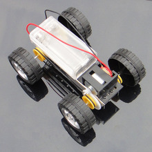 Buy Self assembly DIY Mini Battery Powered Metal Car Model Kit 12*8cm 4WD Smart Robot Car Tank Chassis RC Toy F17924 for $1.81 in AliExpress store