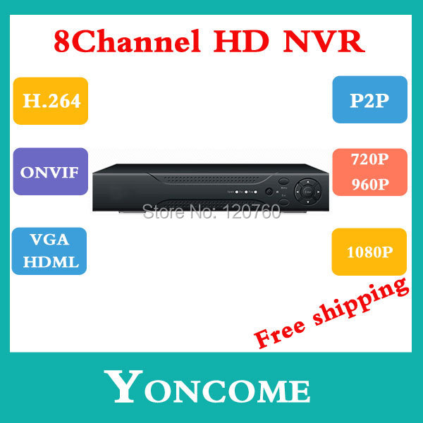Full HD 1080P CCTV NVR 8CH IP Camera ONVIF H.264 HDMI Network Video Recorder 8Channel - Shenzhen Yoncome Security Co.,Ltd store