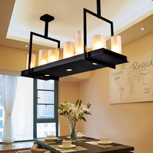 American Nordic retro modern minimalist living room chandelier Candlestick chandelier bar restaurant designer lamps lamp(China (Mainland))