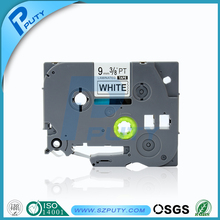 9mm black on white laminated compatible label tape tze 221 for p-touch label maker tze tape