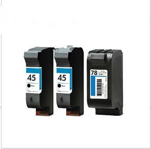 3 X INK CARTRIDGES for HP 45 78 for HP Office Jet G85 K80 Deskjet 920C,930C,932C,935C,940C,1180C,1220C,1220Cps Full ink<br><br>Aliexpress