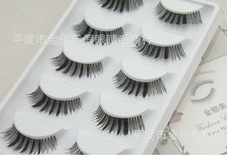 Little Devil Style transparent stems false eyelashes five pairs of handmade packaging manufacturers wholesale new Eyelash S02(China (Mainland))