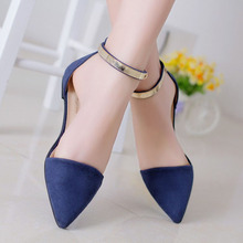 Woman Shoes Spring Summer 2015 Pointed Toe Flats Soft Fashion Brief Shoe KJ064