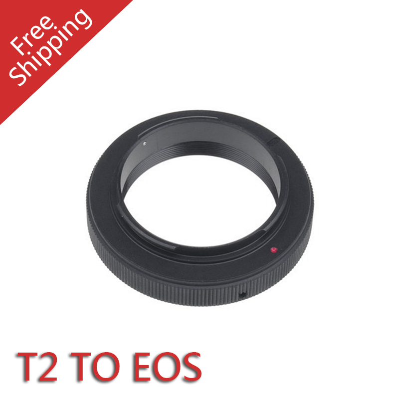 Free shipping Mount Adapter Ring For T T-2 T2 Lens To Canon Eos EF Camera(China (Mainland))