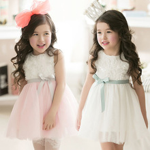 2016 Summer Flower Girls Dresses for Party Wedding Kids Princess Sofia Tutu Dress Children Clothes Baby Girl Evening Prom Dress