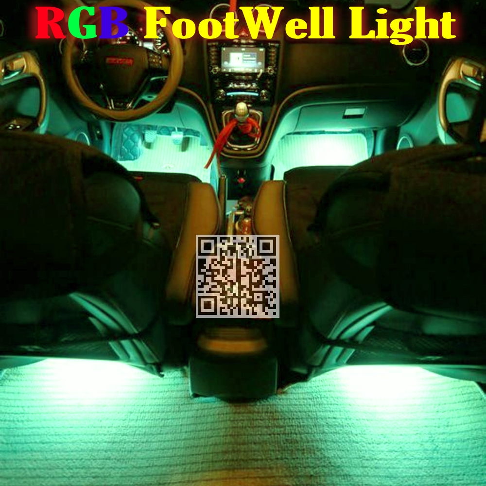 2.4G Wireless Control 360 RGB Color Neon Glow Interior UnderDash Foot / Floor Seat Accent Ambient Light For BMW 4 M4 F32 F33 F36(China (Mainland))