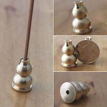 Bronze Gourd Buddhist Sandalwood handy Censer Incense Coil Holder(China (Mainland))