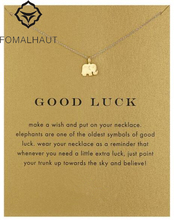 Buy Sparkling lucky elephant Pendant necklace Clavicle Chains Statement Necklace Women FOMALHAUT Jewelry for $0.99 in AliExpress store