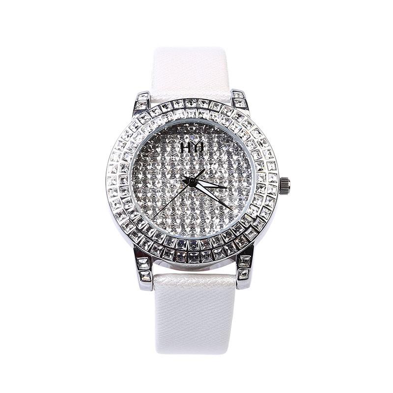 роскошь марка Часы аналоговый нержавеющая сталь стекло мода женщина Кварцевые часы 2016 новый Наручные часы 119