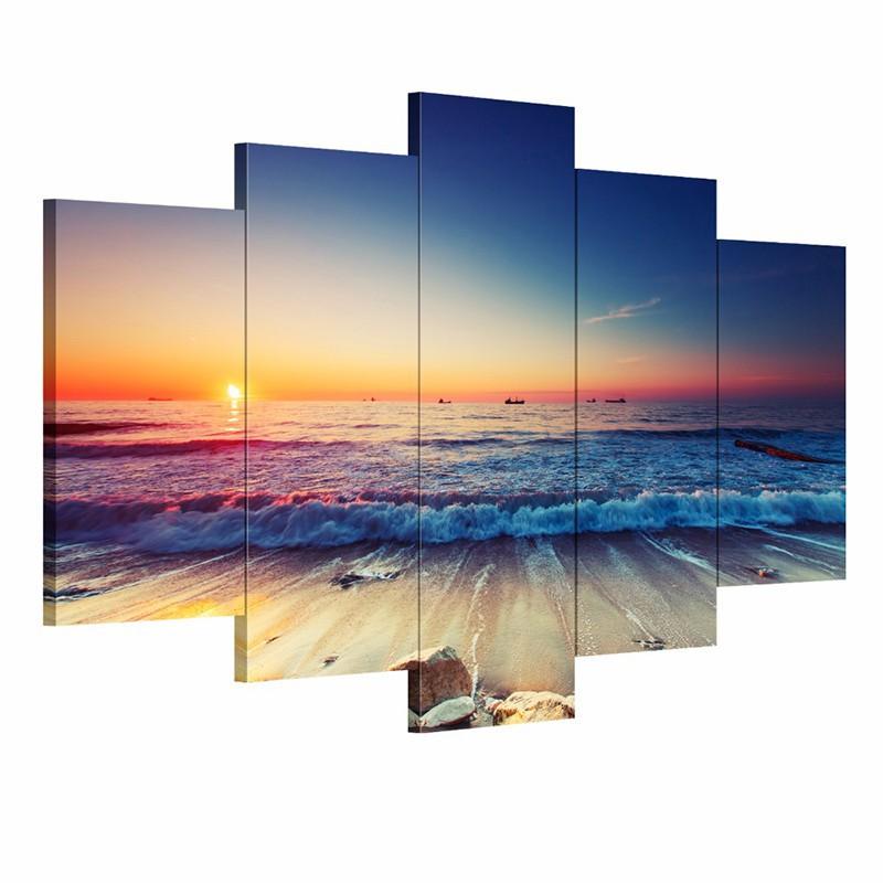 Online kopen wholesale zonsopgang schilderen uit china zonsopgang schilderen groothandel - Modulaire muur ...