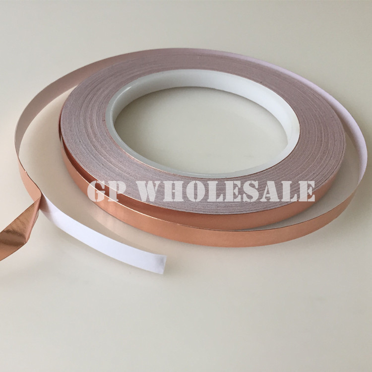2 roll 3MM*30M*0.06mm thick Single Adhesive Conductive Copper Foil Tape EMI Shield Copper Strip BGA Work, Stained Glass Work(China (Mainland))