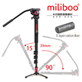 miliboo MTT704B Professional Portable Carbon Fiber Camera Camcorder Tripod for Video DSLR Stand Half Price of