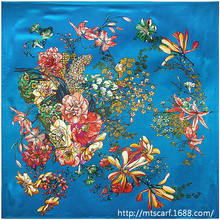 90cm*90cm 2016 Spring New Fashion Brand High Quality Big Size 90x90cm Women Imitated Silk Square Scarf 20 Designs Lowest Price(China (Mainland))