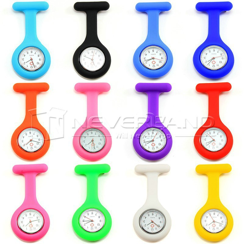 Free Shipping High Quality Brand New Silicone Nurses Brooch Fob Watches Medical Nurse Watch C10(China (Mainland))