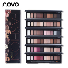New Natural Fashion Make Up Light 10 Colors Eye Shadow Shimmer Matte Eyeshadow Cosmetics Set With Brush NOVO Eye Makeup Palette(China (Mainland))